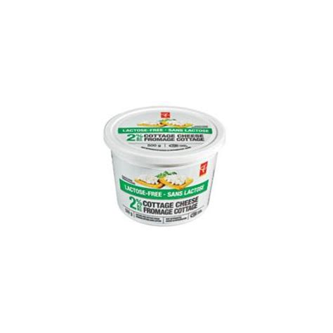 lactose free cottage cheese president s choice lactose free 2 cottage cheese