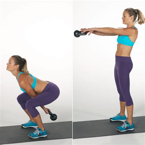 Kettle Swing Exercise by Kettlebell Squat And Swing 7 Kettlebell That Burn