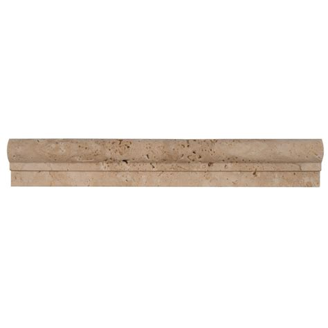 tile trim molding ms international chiaro 2 in x 12 in travertine crown molding wall tile mcr ch2x12 the home