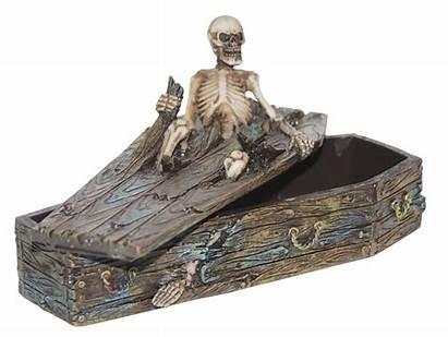 Coffin Skeleton Scary Halloween Box Spooky Decoration