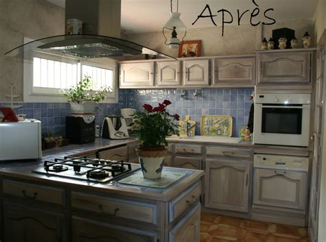 repeindre cuisine en gris relooker cuisine rustique avant apres 14 repeindre