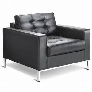 Fauteuil Cuir Design : fauteuil cuir noir design id es de d coration int rieure ~ Melissatoandfro.com Idées de Décoration