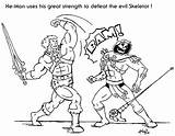 Coloring Wanted He Man Pages Getcolorings Printable sketch template