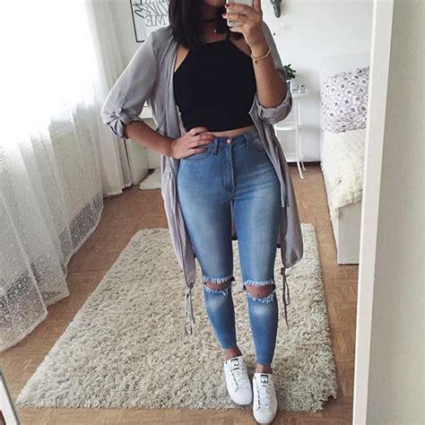 Top negro pantalon claro viejo tenis blancos cardigan gris | school normal | Pinterest ...