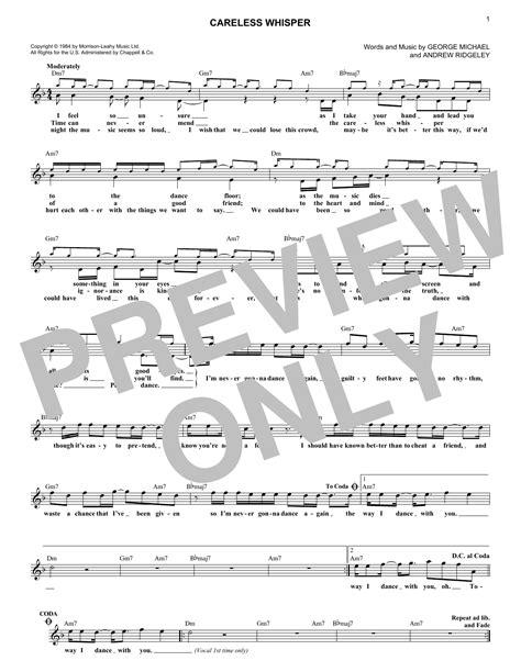 Partitura de dance again de jennifer lopez partituras y. George Michael - Careless Whisper sheet music