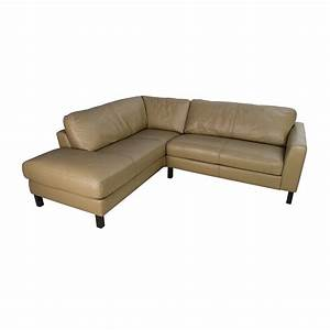 Bloomingdales sofas sectional 56 off black leather tufted for Bloomingdales furniture sectional sofa