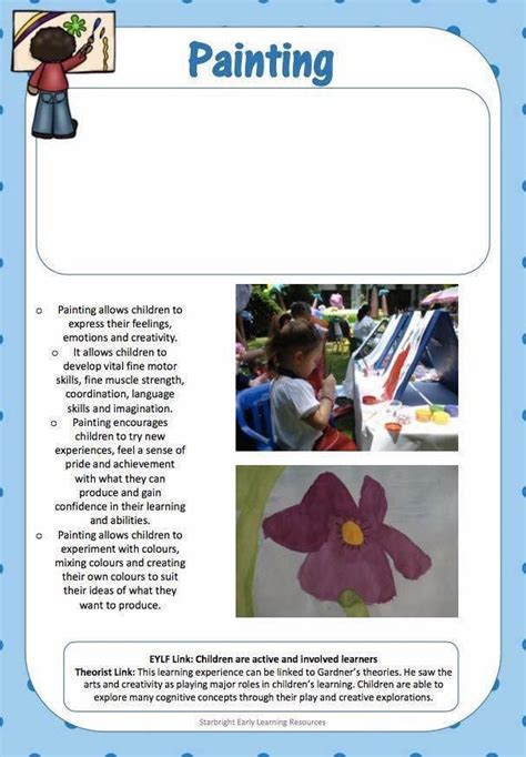 art therapy learning stories examples learning stories