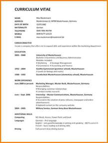 curriculum vitae format 2013 5 lebenslauf englisch vorlage resignation format