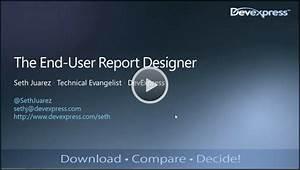 End-User Report Designer Webinar Recap - DevExpress Data ...