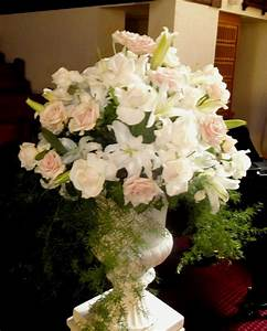 17 best images about church pew flowers on pinterest With wedding ceremony flower arrangements altar