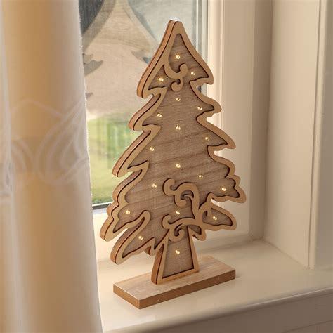 light  standing wooden christmas tree xmas room decoration