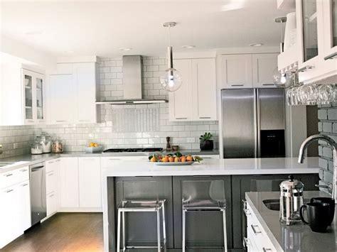 luxury kitchen backsplashes  white cabinets railing
