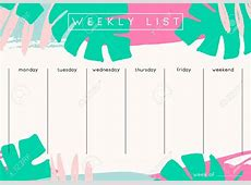 13+ weekly planner template new tech timeline