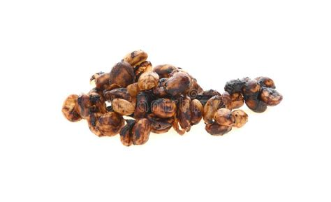Someone once said that the best things in life. Honey Process Coffee Beans On White Background. Stock ...
