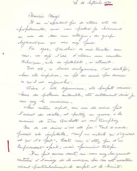 pot depart retraite discours 1974 lettre de monsieur meignan 224 paul mages lors de d 233 part 224 la retraite paul mag 232 s