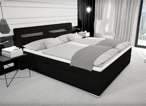Designer Boxspring Bett Paris Mit Bettkasten + Led