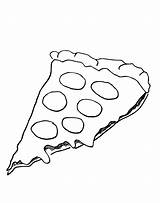 Pizza Coloring Pages Cheese Sheet Template Drawing Hut Printable Pepperoni Print Slice Pepporoni Printables Cartoon Cheesy Popular Activity sketch template