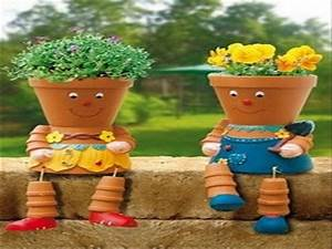 Cool yard ideas, simple clay pot people diy flower pot