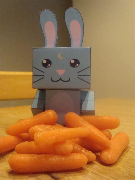 moon bunny cubee     papercraft art