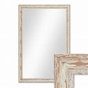 Vintage Spiegel Weiß : wand spiegel 46x66 cm im holzrahmen weiss shabby chic vintage spiegelfl che 40x60 cm spiegel ~ Indierocktalk.com Haus und Dekorationen