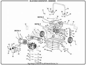 Homelite Bm905000 5000 Watt Generator Parts Diagram For General Assembly
