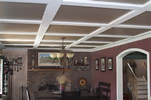 Ceilume Coffered Ceiling Tiles by Alternatives To An Acoustic Tile Suspended Ceiling