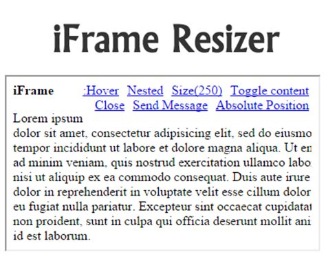 jquery mobile iframe iframe resizer jquery plugins