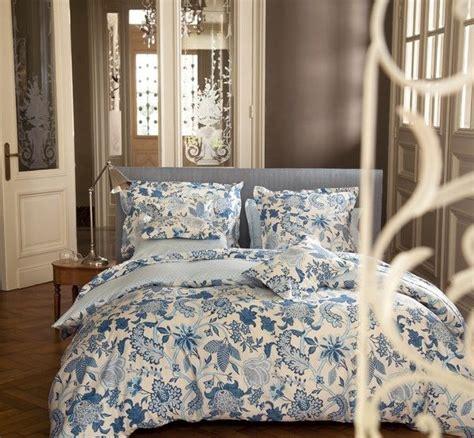 Housse De Couette Bleu Housse De Couette Satin De Coton Amita Bleu 140x200 Linge De Maison Decotaime Fr