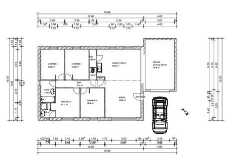bureau etroit pour entree plan maison plein pied 100m2 rectangle 102 messages