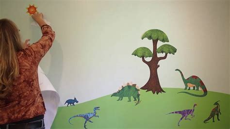 Decorating A Kids Room-dinosaur Decals-youtube