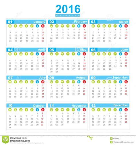 Calendario Con Numero De Semanas 2016