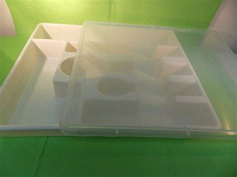 CUTLERY DRAWER TRAY WITH COVER  KEEP DUST AWAY FLATWARE