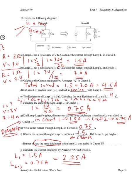 ohm s law s calculations
