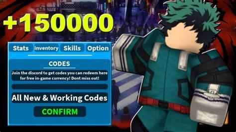 roblox  hero academia codes strucidcodescom