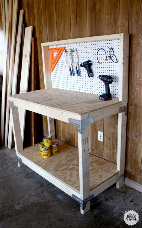 diy workbench plans tutorials decorating  small space