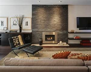 astuces decoration salon cheminee With deco salon avec cheminee
