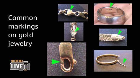 Identifying markings on gold jewelry - YouTube