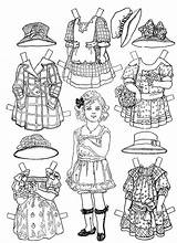 Paper Printable Dolls Coloring Victorian Printablee sketch template