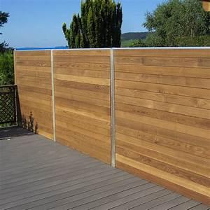 Panneau De Cloture En Bois : panneaux de cloture en bois ~ Premium-room.com Idées de Décoration