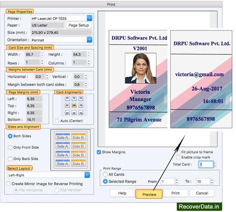 visitors id cards maker  mac screenshots  design