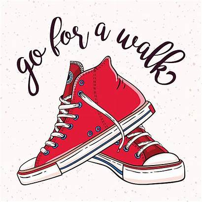 Sneakers Pair Illustration Walking Shoes Clipart Shoe