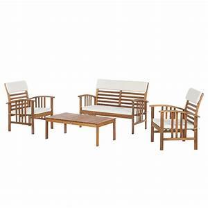 Möbel 24 Shop : sitzgruppe mykonos 4 teilig akazie massiv webstoff plo ~ Indierocktalk.com Haus und Dekorationen