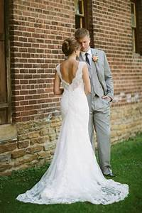 lace wedding dress rustic wedding gray suit dream With dresses to wear to a barn wedding