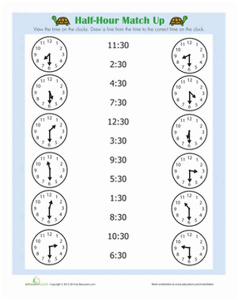 hour  images time worksheets math time math