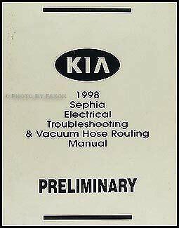 auto body repair training 1998 kia sephia free book repair manuals 1998 kia sephia electrical troubleshooting manual wiring diagram book original ebay