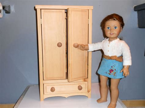 Doll Clothes Armoire by American Doll Or Any 18 Inch Doll Armoire
