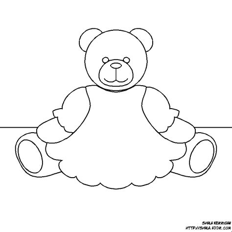 teddy template teddy templates coloring home