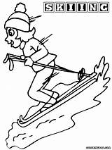 Winter Sport Coloring Pages Colorings sketch template