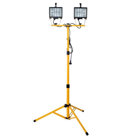 arlec 1000w halogen worklight with tripod bunnings warehouse