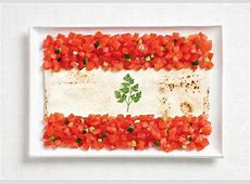 National Flags Made of National Foods Earthly Mission